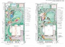 Ландшафтный дизайн дачного участка эскизы