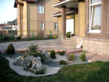 Ландшафтный дизайн перед домом : фото и видео участка