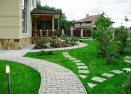 Лучший ландшафтный дизайн загородного дома фото - Ландшафтный