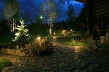 Освещение на загородном участке. Декоративное освещение участка
