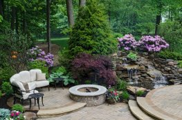 Стильный сад ландшафтный дизайн